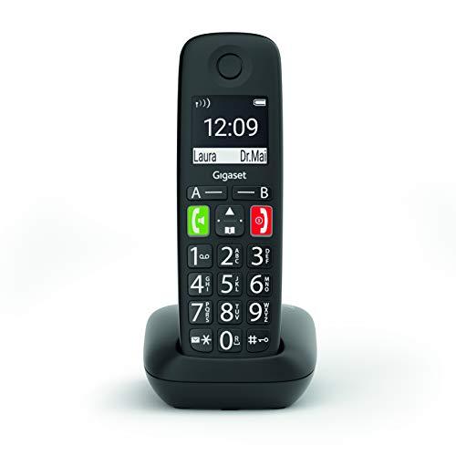 Oferta de Gigaset E290 - Teléfono Fijo Inalámbrico con Teclas Grandes y Pantalla de Alta Visibilidad, Manos Libres, Compatible con audifonos, 1 Unidad