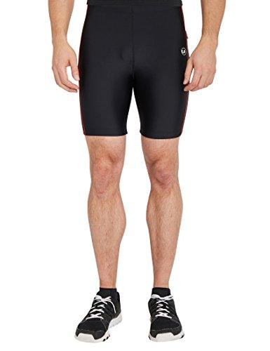 Ultrasport Herren Fitnesshose , Schwarz/Rot , X-Large