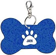 Sky Trends Bone Shape Collar Locket/Pendant for Dogs & Puppy -544, Multicolour, Medium, 1 Count -