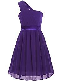 e7705046a6 IEFIEL Vestido de Fiesta Boda Ceremonia Niña Falda Plisado de Gasa Vestido  de Flores Dama de