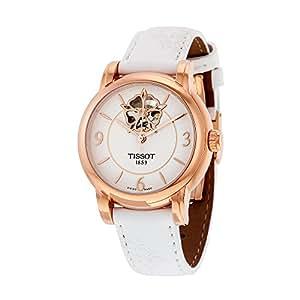 TISSOT - Montre Femme Lady Heart Automatique T0502073701704 Bracelet En Cuir Blanc - T0502073701704