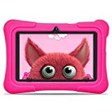 "Dragon Touch Kindertablet, Y88X Pro Kinder Tablet Pad Lerntablet für Kids, 2 GB + 16 GB, Android 9.0 OS, 7"" IPS-Touchscreen, G-Sensor, Kidoz & Google Play vorinstalliert mit blau Schutzhülle (Rosa)"