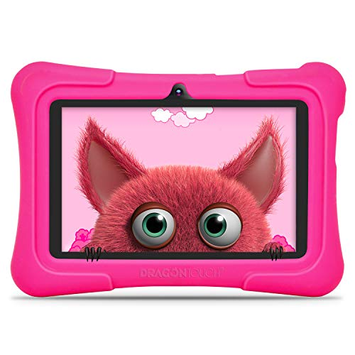 tablet per bambini Dragon Touch Y88X PRO Tablet per Bambini 7 Pollici Android 9.0 Quad Core 2 GB RAM 16 GB Rom Wi-Fi e Bluetooth IPS HD 1024 * 600 Kidoz e Google Play preinstallato con Kid-Proof Custodia (Rosa)