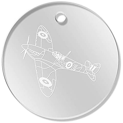 11 x 34mm 'Avion Spitfire' pendentif transparent (PN00022603)