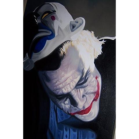 Dark Knight Joker da 30x 20Pittura a olio su tela ma Box Framing disponibili su richiesta, si prega di contattarci via email per dettagli. Molti Altri Joker, disponibile anche come qualsiasi dimensione Desideri. Si prega di contattarci via email per dettagli. Batman Dark Knight - Framing Olio Su Tela