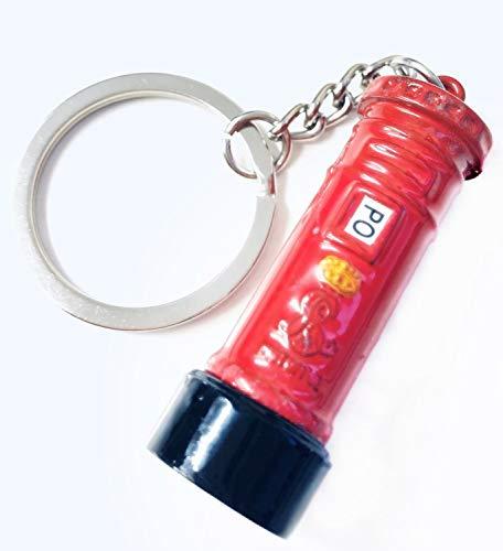 British Miniature London Schlüsselanhänger, Postkasten, Druckguss, Metall