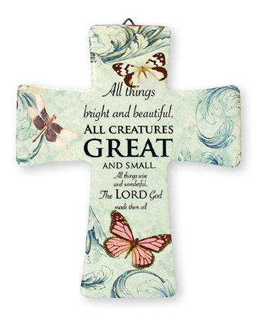 Porzellan Kreuz/alle Kreaturen. 51/5,1cm X 43/10,2cm–Aufhänger und Aufsteller