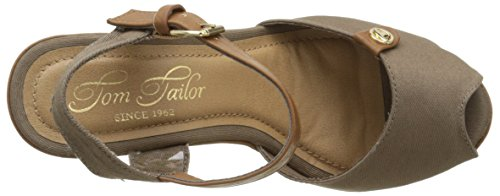 Tom Tailor 9690810, Sandales femme Marron (Mud)