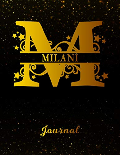 Milani Journal: Letter M Personalized First Name Personal Writing Diary   Black Gold Glittery Space Effect Cover   Daily Diaries for Journalists & ... Taking   Write about your Life & Interests (Gold Milani)