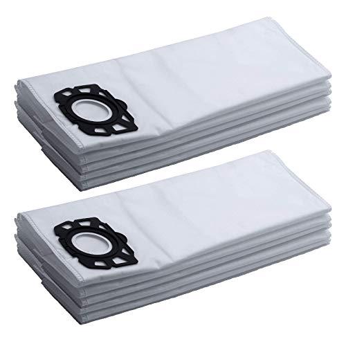 M&M Smartek 10 Pack Vliesfilterbeutel Ersatz für/kompatibel zu Kärcher Staubsauger WD4 - WD5 - WD5 - Premium - MV4 - MK5 - MV6 wie 2.863-006.0