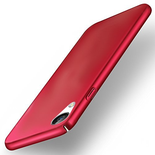 "Vivo Y51L All Sides Protection ""360 Degree"" Sleek Rubberised Matte Hard Case Back Cover (Red)"