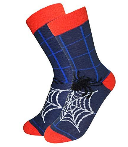 EveryKid Ewers Jungensocken Markensocken Socken Strümpfe Söckchen Kleinkind ganzjährig Halloween Spider für Kinder (EW-201111-W18-JU0-1121-35/38) in Tinte, Größe 35/38 inkl Fashionguide