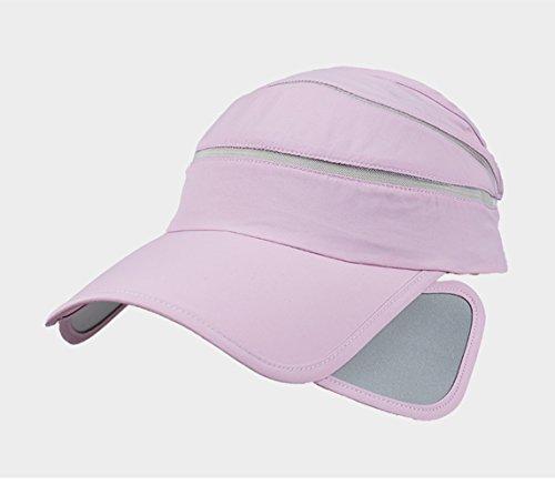 Jysport d'été Chapeau de soleil Sport Visière Chapeau Femme vide Haut de tennis de chapeau à séchage rapide Casquette pour femme UV Chapeau de plage lavande
