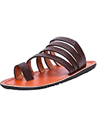 Twin Kids Fashion Casual Chappal TWT-4601 brown and black Colours