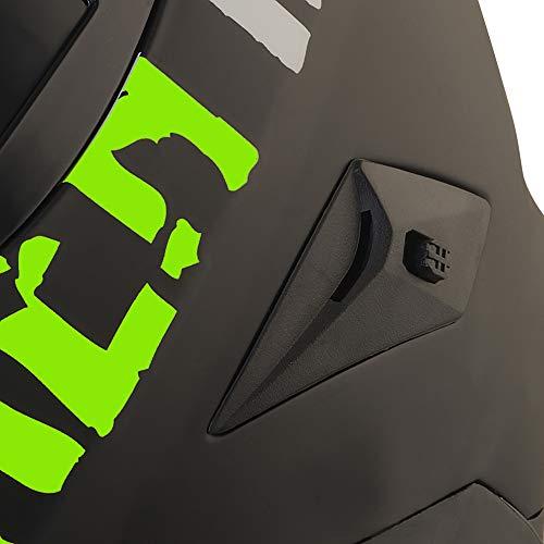 Broken Head BeProud Helm   Motorradhelm Set inkl. Schwarzem Visier – Integralhelm – Karthelm – Nakedbike schwarz-matt S (55-56 cm) - 8