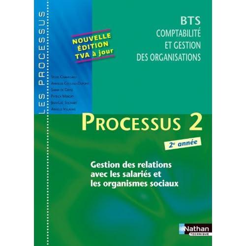 Processus 2 - Gestion des relations avec les salariés et les organismes sociaux - BTS CGO 2e année