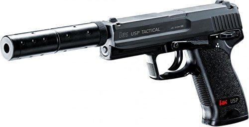 g8ds Set: Heckler & Koch Softair Elektrisch USP Tactical unter 0,5 Joule 6mm Bio Softairkugeln 6mm 0,20g 2000 BBS - Air-pistole Auto Semi