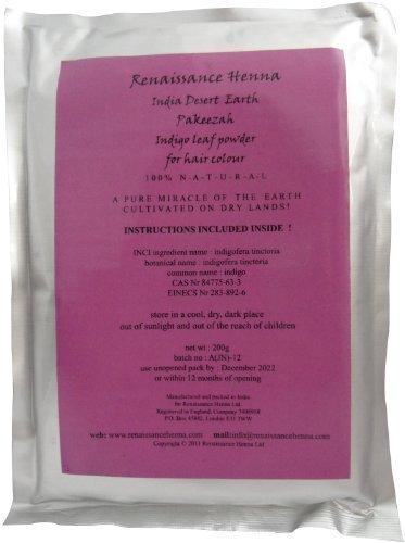 (Reines Indigo Tiefschwarz Haarfärbemittel,200g; verwenden sie mit henna oder allein für crazy auf blau blondine & grau)
