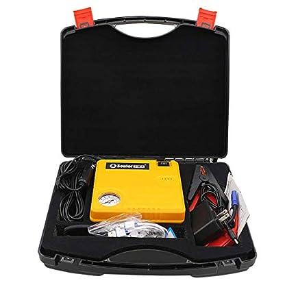 LALEO 400A 13500mAh 12V Arrancador de Coches (hasta 6, 0L Gasolina o 4, 0L Diesel), IP68 Impermeable con Bomba de Aire Carga Rápida QC3.0 USB Linterna LED Powerbank Jump Starter