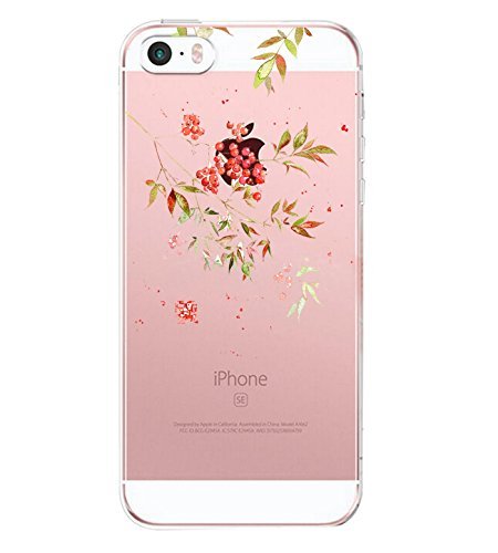 iPhone SE Hülle, Liquid Crystal Hülle iPhone 5 Silikon hülle TPU Case Ultra Slim Cover Weich TPU Bumper Schutzhülle für Apple iPhone 5S Case Cover (5, iPhone SE / iPhone 5S / iPhone 5 4.0
