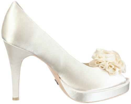 Menbur Wedding Amanda 04338, Scarpe con tacco da sposa Avorio (Elfenbein/Ivory)
