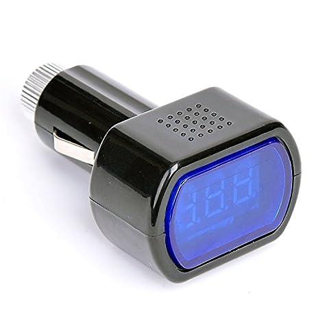 BOMIEN Digital LCD Vehicle Car Voltage Panel Meter Monitor Tester Checker