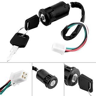GEZICHTA Universal Zündung Key Switch mit 2Schlüssel Schalter Zündschloss für die meisten Motorräder; von Classic Fahrrad zu Pit Bikes, Quads, Dirt Bikes, Roller und mehr