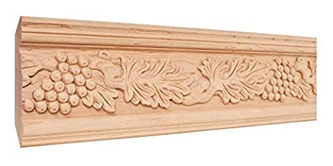 Hand Carved Acanthus and Grape Crown Moulding - 8 ft. Length (Maple) by Hardware Resources