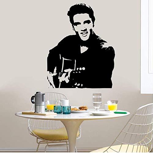ylckady Rockmusik Dekoration Home Wandaufkleber Wandtattoos Elvis Home Decor Kreative Musik Party Supply -