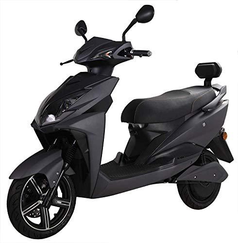 Elektroroller FALCON, 3400 Watt, E-Scooter, Elektro-Roller, E-Roller mit Straßenzulassung, 45 km/h, herausnehmbarer Lithium-Akku, 80 km Reichweite, Produktvideo, Schwarz