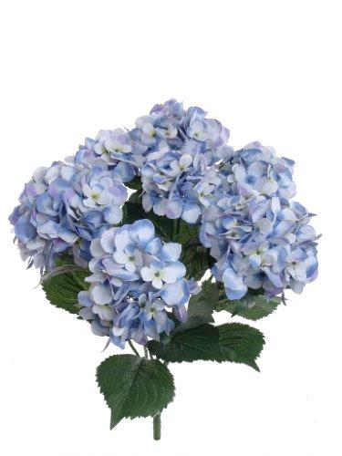 Larksilk Hortensia Soie Artificielle avec 7 têtes de Balai 55,9 cm Bleu
