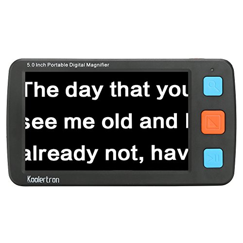 Digital Video Magnifier, 5.0 Zoll Handportable Mobile Elektronische Lesehilfe Leselupen für sehbehinderte, Senioren, Makuladegeneration, Menschen mit hoher Kurzsichtigkeit. (schwarz)