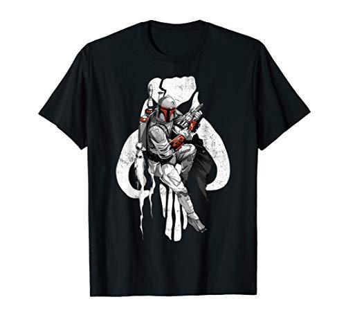 Fett-logo-t-shirt (Star Wars Baba Fett Mandalorian Skull Logo T-Shirt)