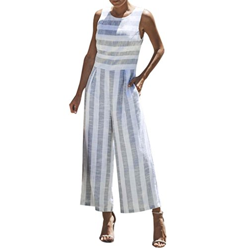Frauen Chiffon Kurzarm Clubwear Playsuit VENMO Bodycon Party Jumpsuit Jumpsuit Einteiler Overall Hosenanzug Lang Langarm Elegant Romper Playsuit Pyjama Gemühtlich Wasserfallkragen Rückenfrei (Blue -d, XL)