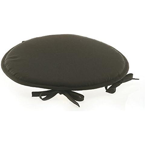 Street Home 11962 Star rotondo per sedia, schiuma: Nero diametro 39 cm
