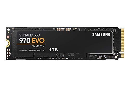 Samsung MZ-V7E1T0BW Interne NVMe SSD 970 EVO 1 TB M.2 bis zu 3.400 MB/s (Komponenten-adapter Samsung)