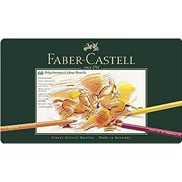 Faber-Castell 110060 – Matita Colorata Polychromos, 60 Custodia in metallo