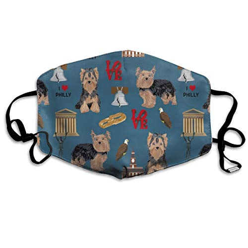 eed Philadelphia Yorkshire Terrier Blue Anti Dust Mask Anti Pollution Washable Reusable Mouth Masks ()