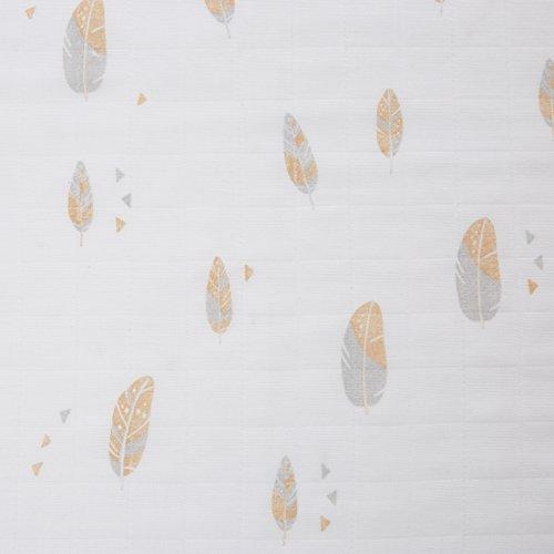 GLOOP. Lange Chiffon-Baumwolle Federn 70x 70cm