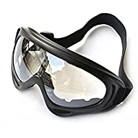 Nalmatoionme Windproof UV400 Snowmobile Ski Cycling Bicycle Motorcycle Goggles Safety Protective Glass (Clear)