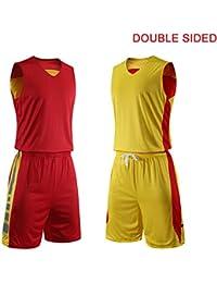 Baloncesto Camiseta De Uniforme Doble Cara Deportiva De Basket Jersey para Adulto Camisa De Baloncesto,