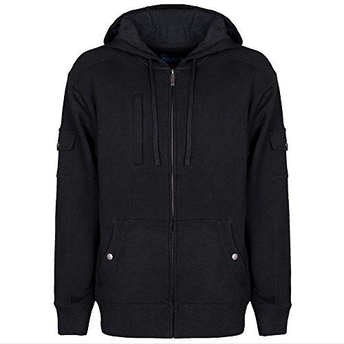 AyeGear H13 Felpa con cappuccio con zip e 13 tasche nascoste, Tasca per iPad o Tablet, giacca in pile