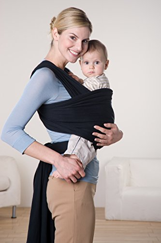 AMAZONAS Baby Tragetuch Jersey Sling black 0-9 Monate bis 9 Kg - 2