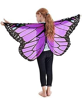 Fossen Niño Niña Capas Alas de mariposa Duendecito Hada Accesorio de Disfraces