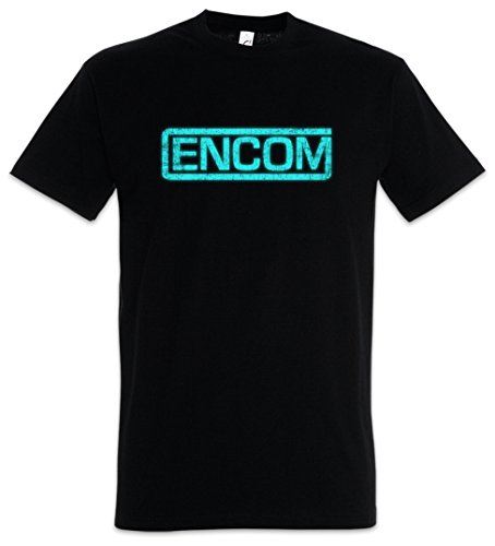 ENCOM II Herren T-Shirt ENCOM International Computer Technology Corporation Tron MCP Center City Dr. Walter Gibbs, Ph.D. Space Paranoids Light Cycles (Tron T-shirt)