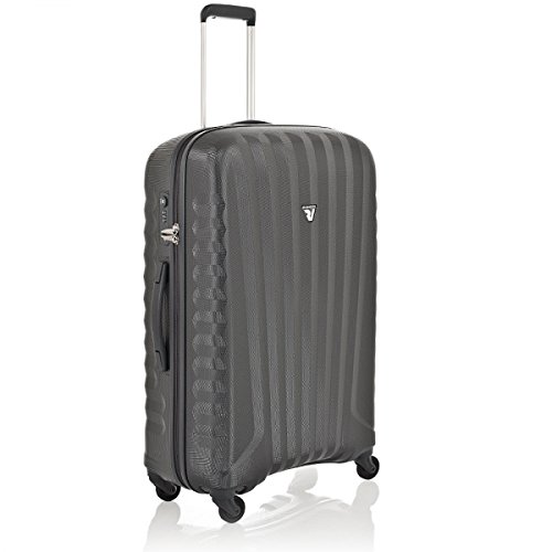 Roncato Uno Zip Trolley 4 Ruote Ultraleggero Made in Italy misura media Antracite