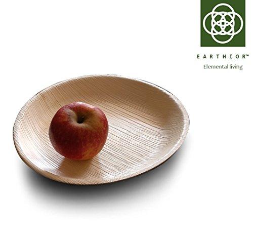 """Set von 10 rund 9"""" Eco Einweg Appetizer Plates, wiederverwendbare, biologisch abbaubare, kompostierbare Premium Partyteller"""