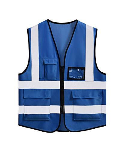 PengGengA Stücke Sicherheitsweste, Sicherheits Reflektoren Warnweste Zum Motorradfahren Laufen Joggen Blau - Blouson Ein Stück