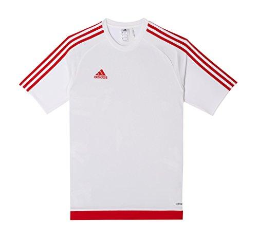 Adidas estro 15 jsy t-shirt, bambino, bianco/rosso, 910a