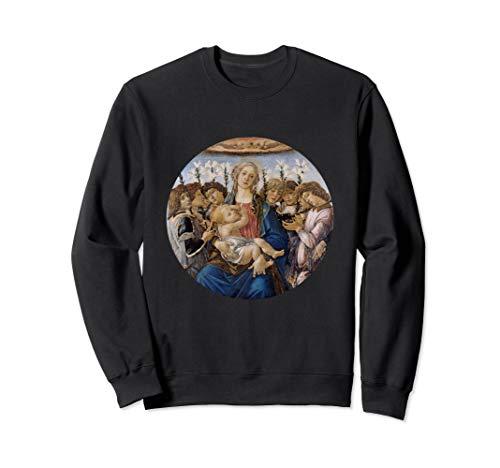 Madonna und Kind mit acht Engeln durch Sandro Botticelli Sweatshirt -